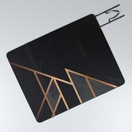 Black & Gold 035 Picnic Blanket