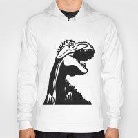 dinosaur Hoodies featuring dinosaur by Alexandr-Az