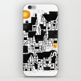 Illustration Abstract town iPhone Skin