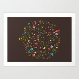 Jardim Circular Art Print