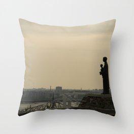 Budapest statue Throw Pillow