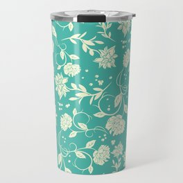 Delicate Blue Sunlight Flowers Blossom Travel Mug