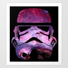 storm trooper Nebula Art Print