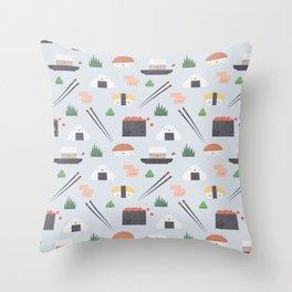 Happy Sushi Throw Pillow
