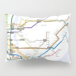 New York Subway Map Pillow Sham