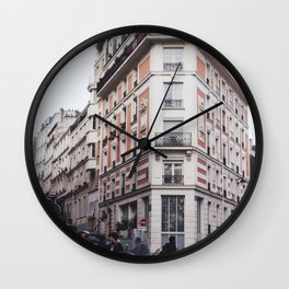 Montmartre Paris Pink Corner Wall Clock