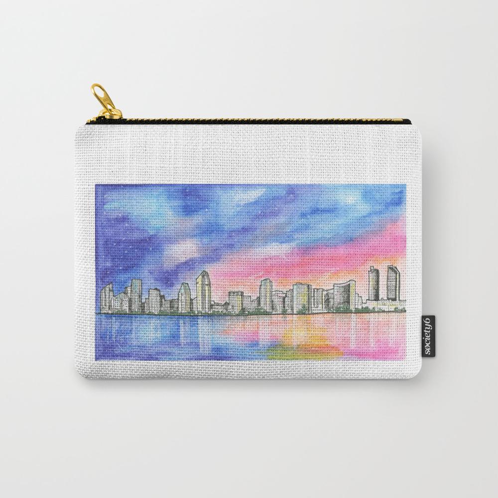 San Diego Skyline - San Diego - San Diego, Califor… Carry-all Pouch by Junepoppiesdesigns CAP8556050