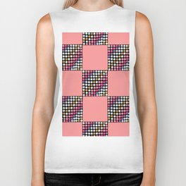 Checker Disco Biker Tank