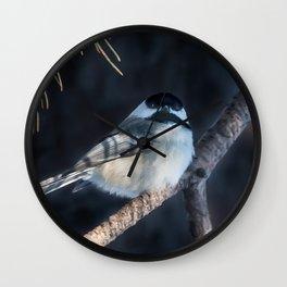 December Chickadee Wall Clock