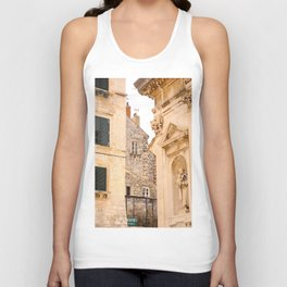 Terrace in Old Town Europe #decor #society6 Unisex Tank Top