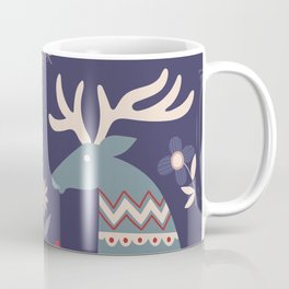REINDEER AND FLOWERS Coffee Mug