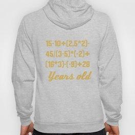 50 Years Old Algebra Equation Funny 50th Birthday Math Hoody