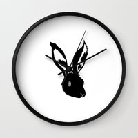 danny haas Wall Clocks featuring Haas by Haas