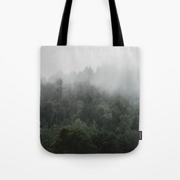 Fog in the Forest | Kaszuby Canada | Travel | Adventure | Landscape | Woods | By Magda Opoka Tote Bag