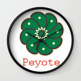 Peyote Cactus Wall Clock
