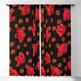 dark roses Blackout Curtain