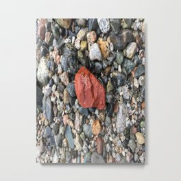Little Rocks from the Beach Metal Print