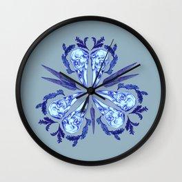 Itty bitty bones blue Wall Clock