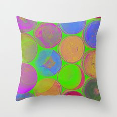 The Lie is a Round Truth. Green. Throw Pillow