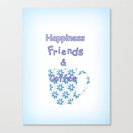 Friends And Coffee Canvas Print