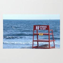 No Lifeguard on Duty Rug