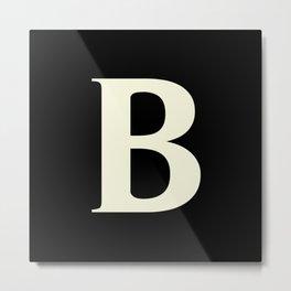 B MONOGRAM (BEIGE & BLACK) Metal Print
