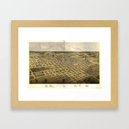 Aerial View of Springfield, Illinois (1867) Framed Art Print