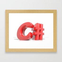 C# Red Framed Art Print