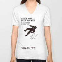 gravity V-neck T-shirts featuring GRAVITY by Resistance