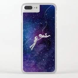Galaxy Love Clear iPhone Case