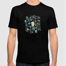 AWESOME BIBI'S GADGETS MEDIUM Black Mens Fitted Tee