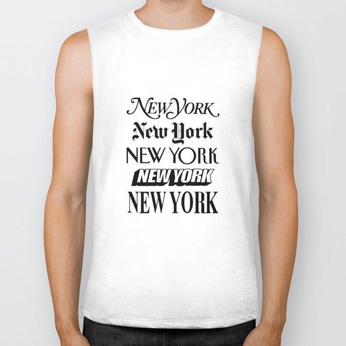 I Heart New York City Black and White New York Poster I Love NYC Design black-white home wall decor Biker Tank