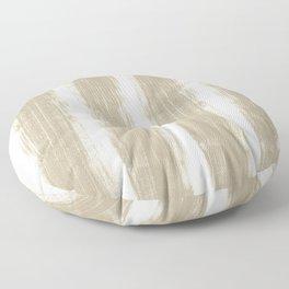 Neutral Minimalist Abstract Stripes Floor Pillow