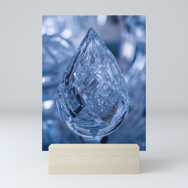 BLUE SAPPHIRE CUT GLASS JEWEL Mini Art Print