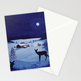 Christmas in the country Stationery Cards