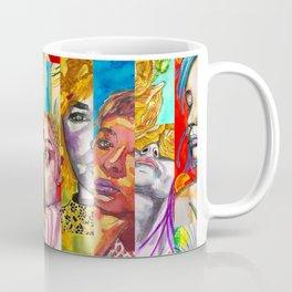 Female Faces Portrait Collage Design 1 Coffee Mug