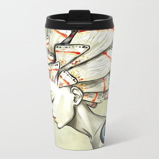 Moth 2 Metal Travel Mug