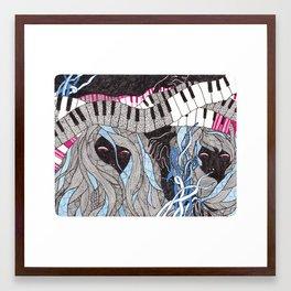 Music is not dead Framed Art Print