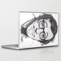 woody allen Laptop & iPad Skins featuring Woody Allen by Paul Nelson-Esch Art