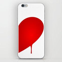 Half Heart Man iPhone Skin