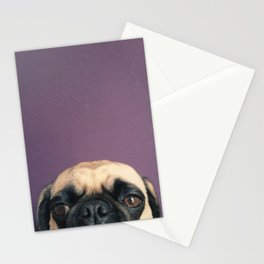 Lurking Pug Stationery Cards