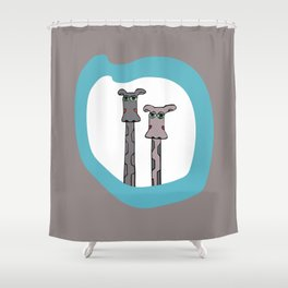 With Love from Frieda and Friedrich Shower Curtain