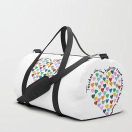 Hearts Heart Teacher Duffle Bag