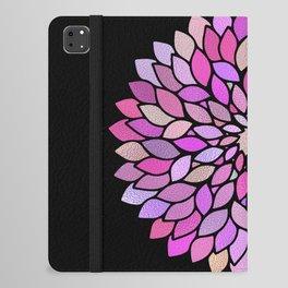 Flower Mandala Rose Gold And Purple iPad Folio Case