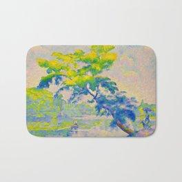 Bending Tree 1905 Henri-Edmond Cross Neo-Impressionism Pointillism Oil Painting Bath Mat