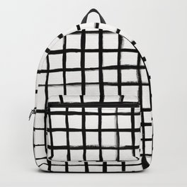 Strokes Grid - Black on Off White Backpack