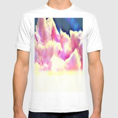 COTTON CANDY CLOUDS MEDIUM Mens Fitted Tee White