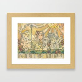flower children Framed Art Print