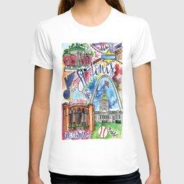 St. Louis Skyline Watercolor T-shirt