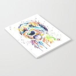 Goldendoodle, Golden Doodle Watercolor Pet Portrait Painting Notebook